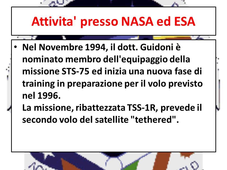 Attivita presso NASA ed ESA