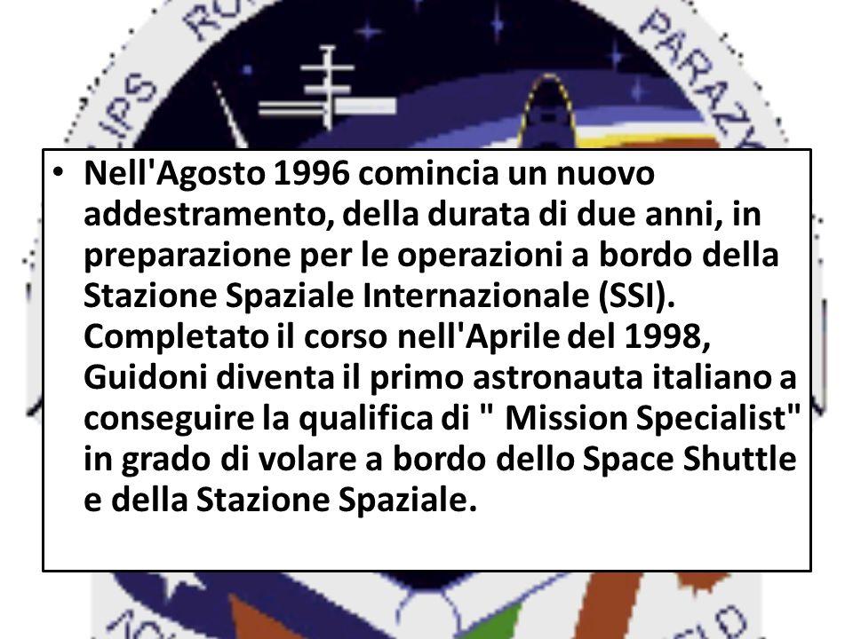 Nell Agosto 1996 comincia un nuovo addestramento, della durata di due anni, in preparazione per le operazioni a bordo della Stazione Spaziale Internazionale (SSI).
