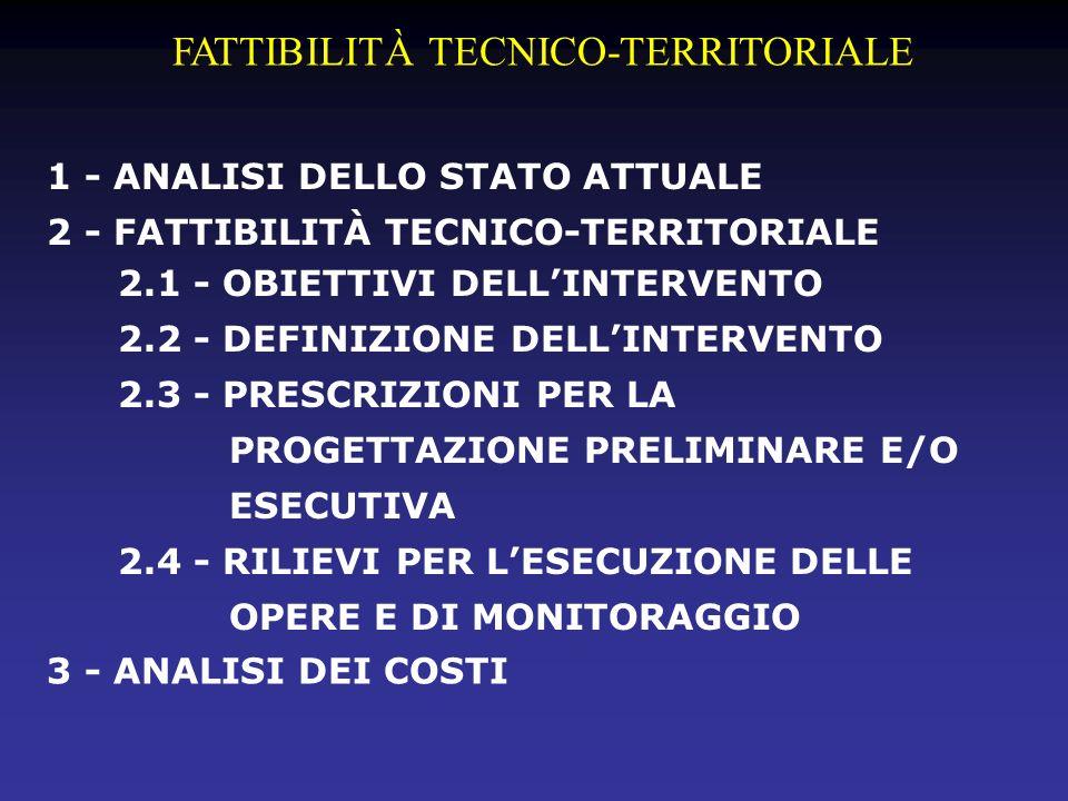 FATTIBILITÀ TECNICO-TERRITORIALE