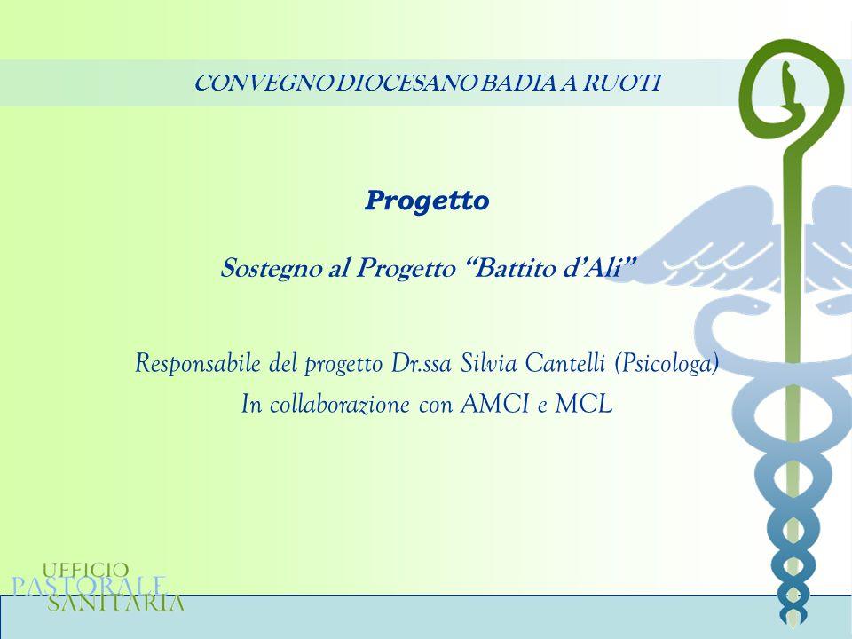 CONVEGNO DIOCESANO BADIA A RUOTI Sostegno al Progetto Battito d'Ali