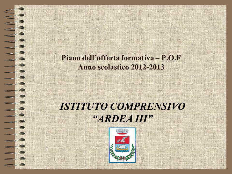 Piano dell'offerta formativa – P.O.F Anno scolastico 2012-2013