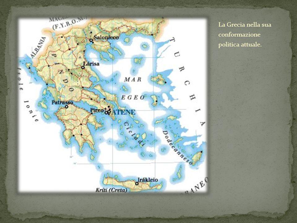 La Grecia nella sua conformazione politica attuale.