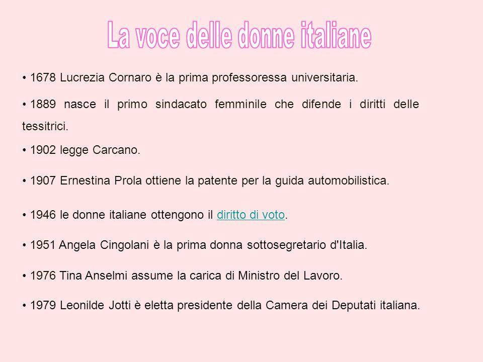 La voce delle donne italiane