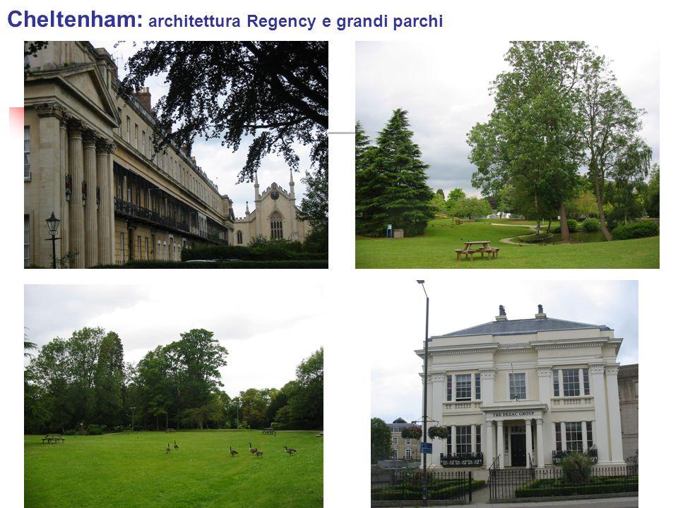 Cheltenham: architettura Regency e grandi parchi