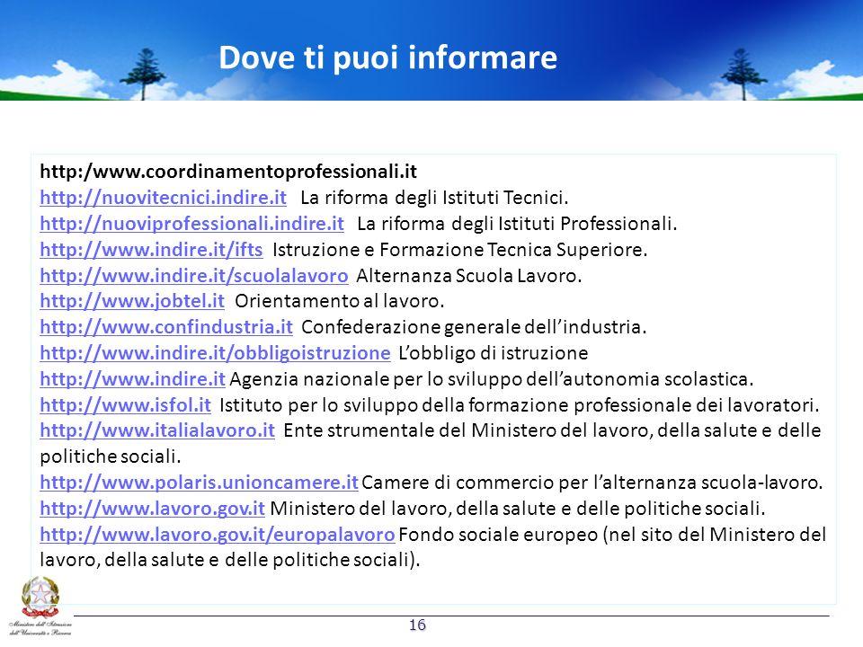 Dove ti puoi informare http:/www.coordinamentoprofessionali.it