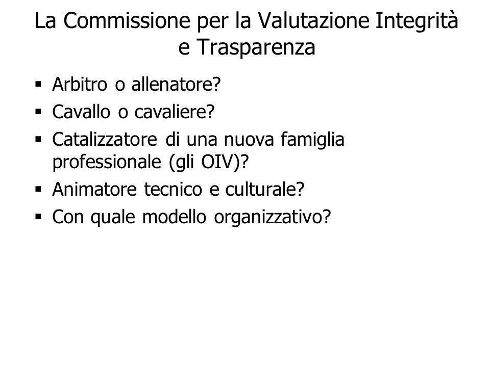 La Commissione per la Valutazione Integrità e Trasparenza