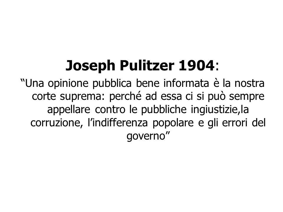 Joseph Pulitzer 1904: