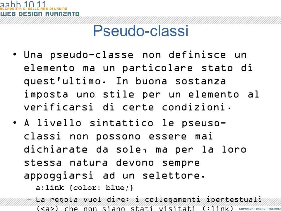 Pseudo-classi