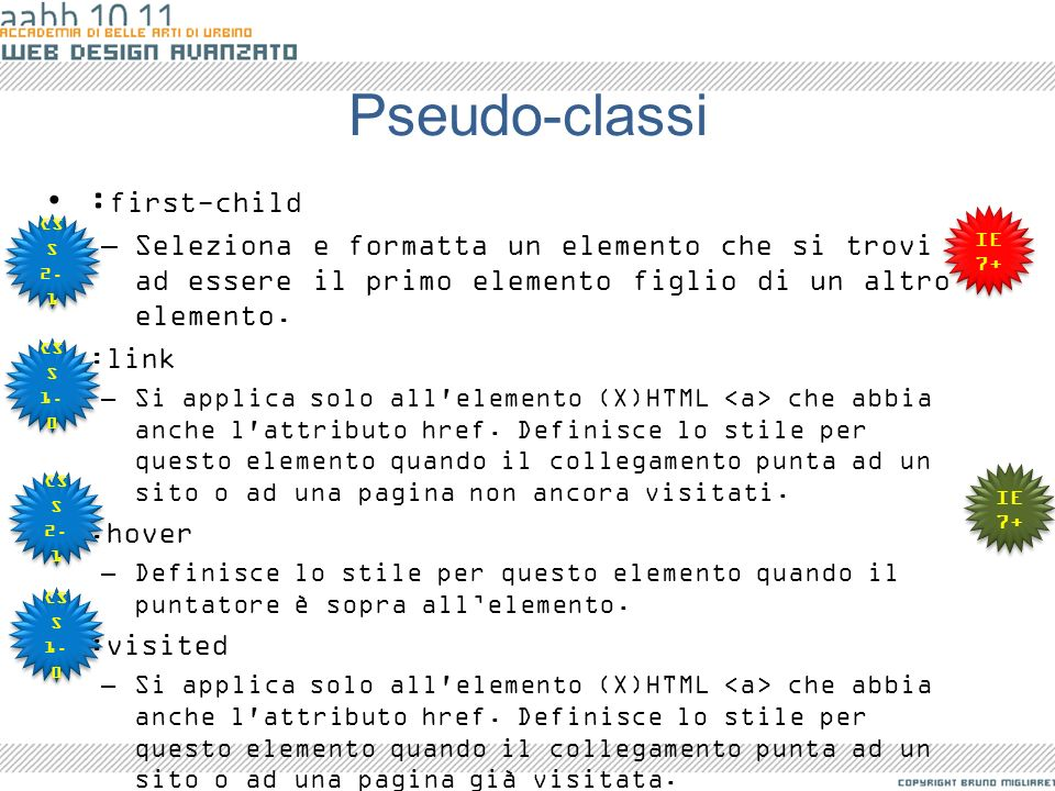 Pseudo-classi :first-child