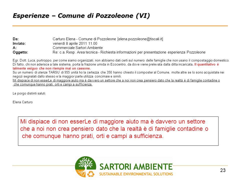 Esperienze – Comune di Pozzoleone (VI)