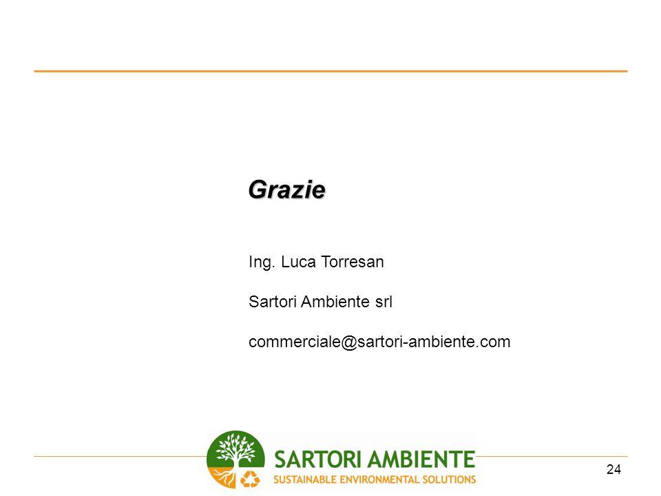 Grazie Ing. Luca Torresan Sartori Ambiente srl