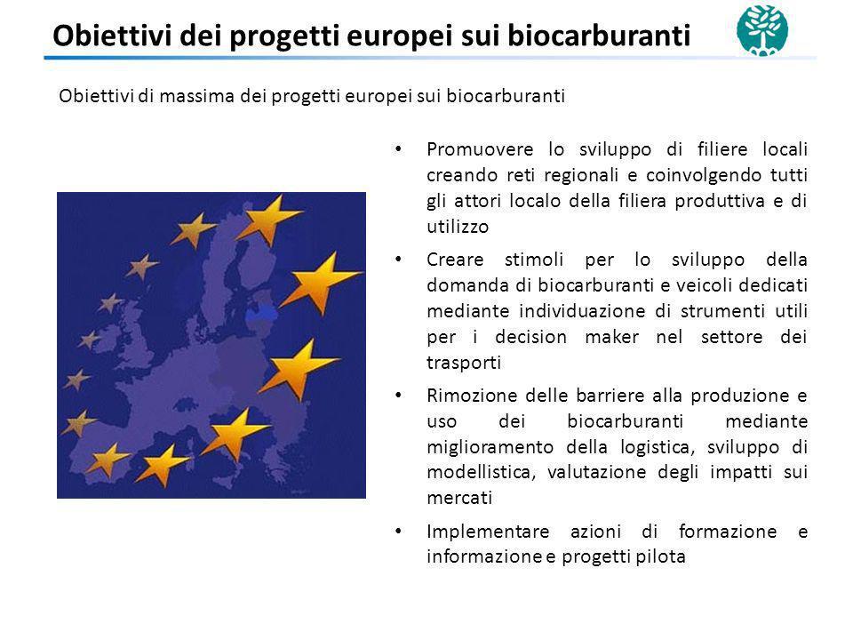 Obiettivi dei progetti europei sui biocarburanti