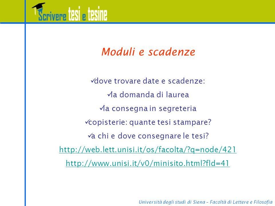 Moduli e scadenze dove trovare date e scadenze: la domanda di laurea