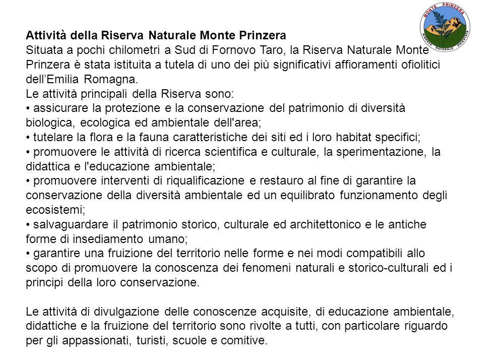Attività della Riserva Naturale Monte Prinzera