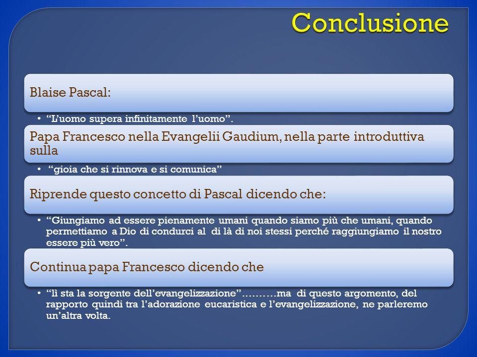 Conclusione Blaise Pascal: