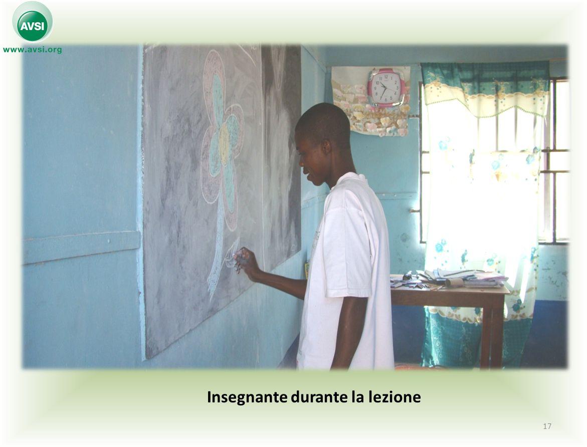 Insegnante durante la lezione