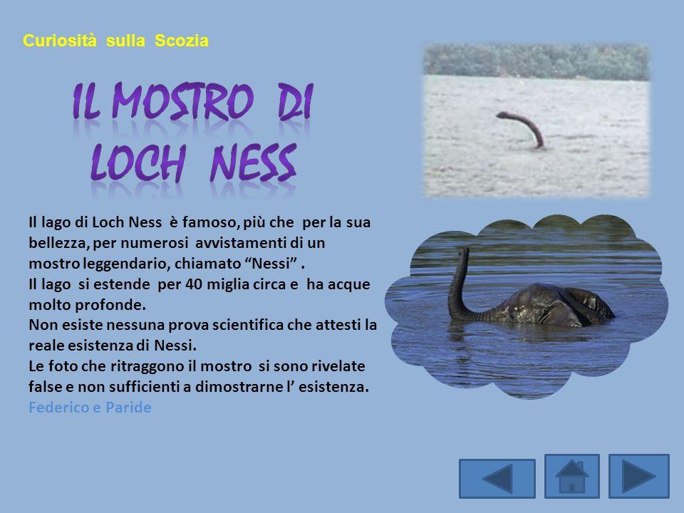 Il Mostro di loch ness Curiosità sulla Scozia