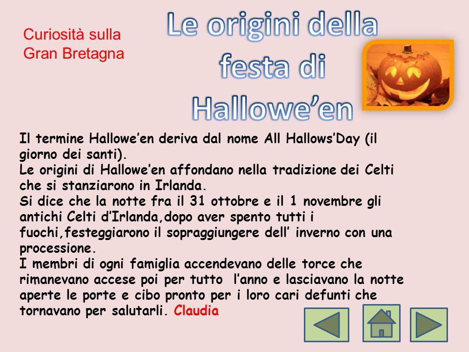 Le origini della festa di Hallowe'en