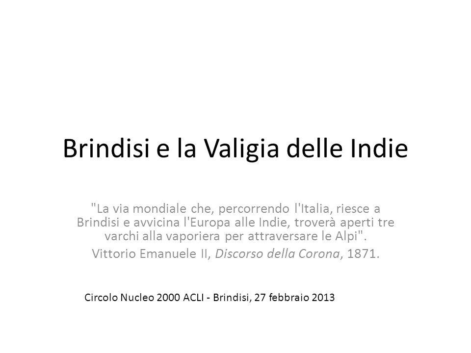Brindisi e la Valigia delle Indie