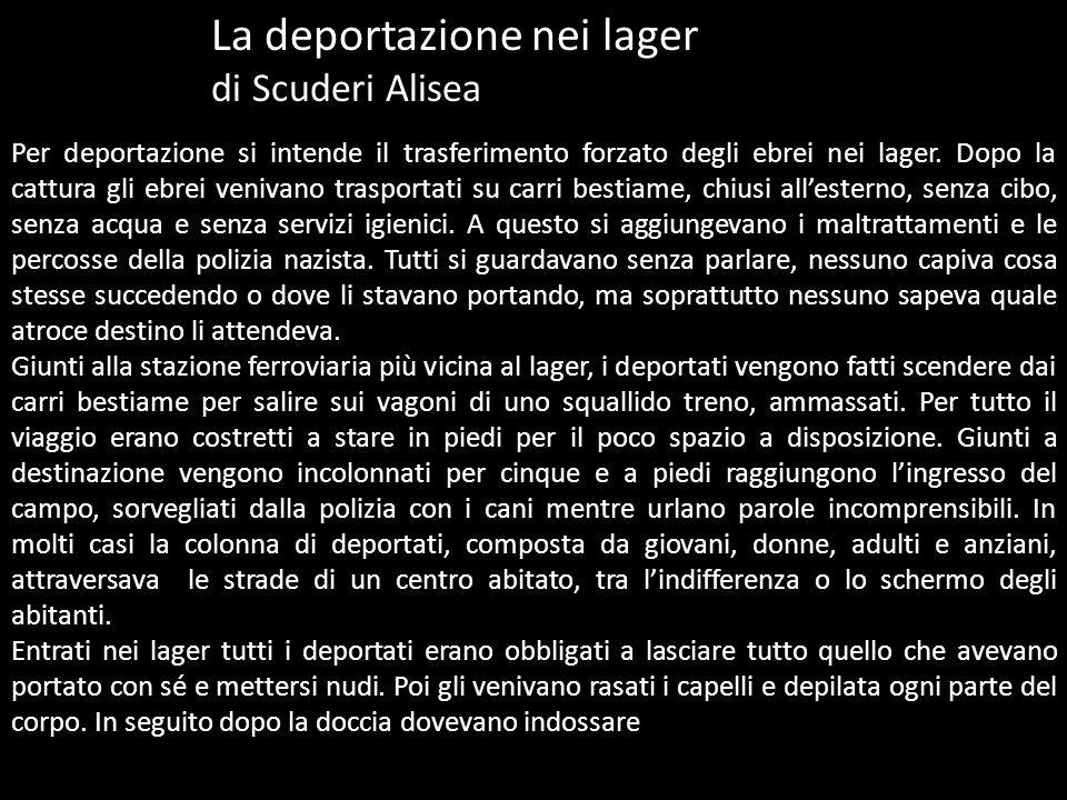 La deportazione nei lager