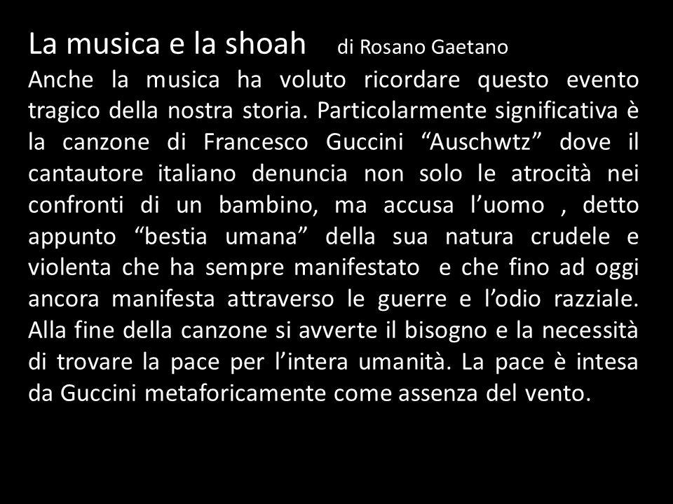 La musica e la shoah di Rosano Gaetano