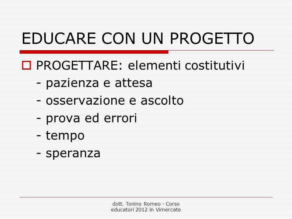 EDUCARE CON UN PROGETTO