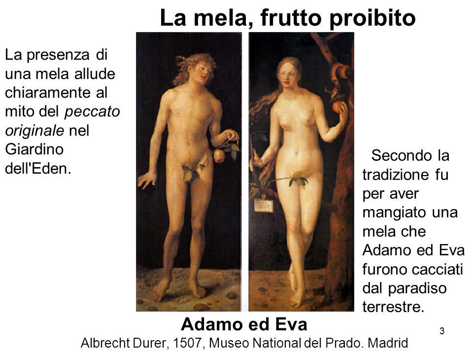 Adamo ed Eva Albrecht Durer, 1507, Museo National del Prado. Madrid