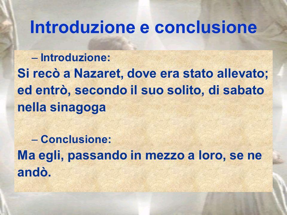 Introduzione e conclusione