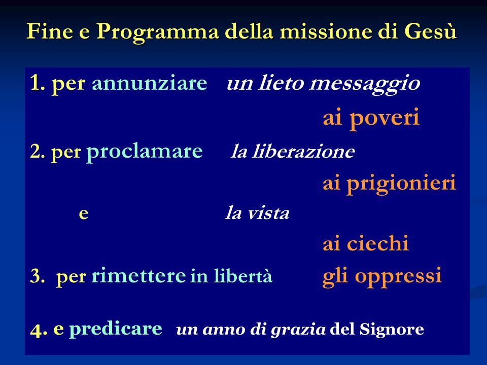 Fine e Programma della missione di Gesù