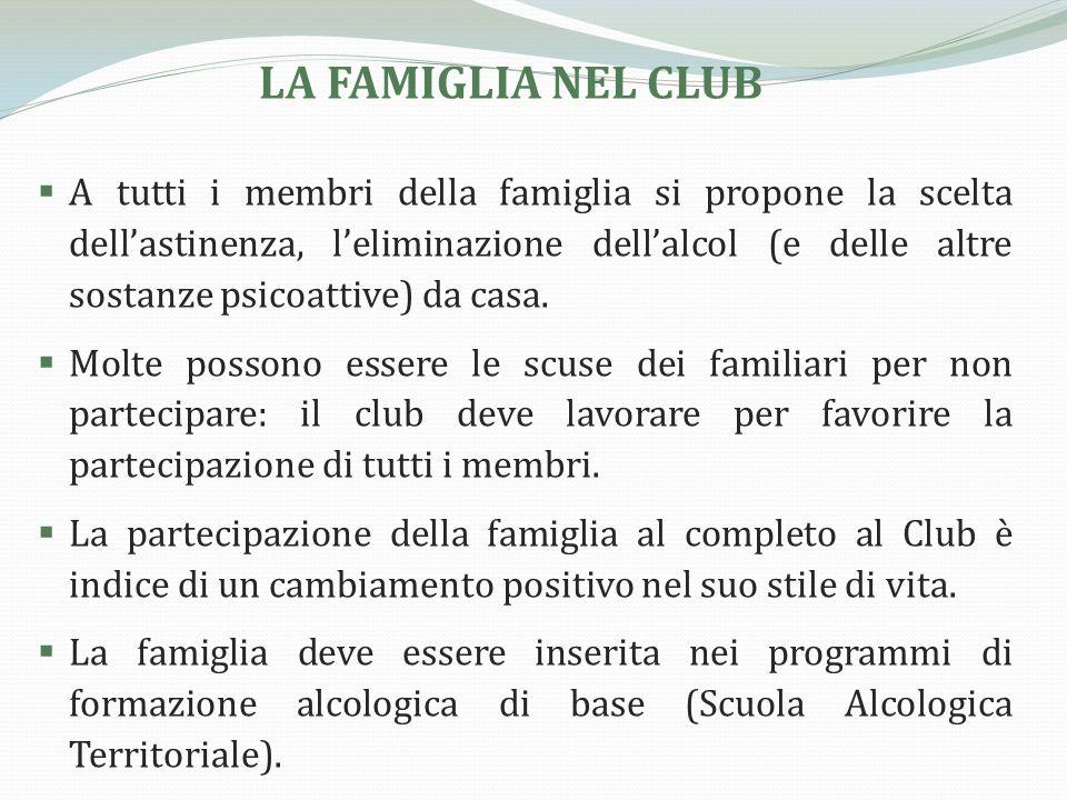 LA FAMIGLIA NEL CLUB