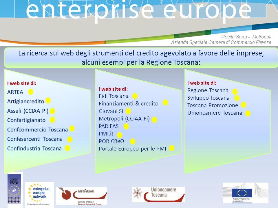 alcuni esempi per la Regione Toscana: