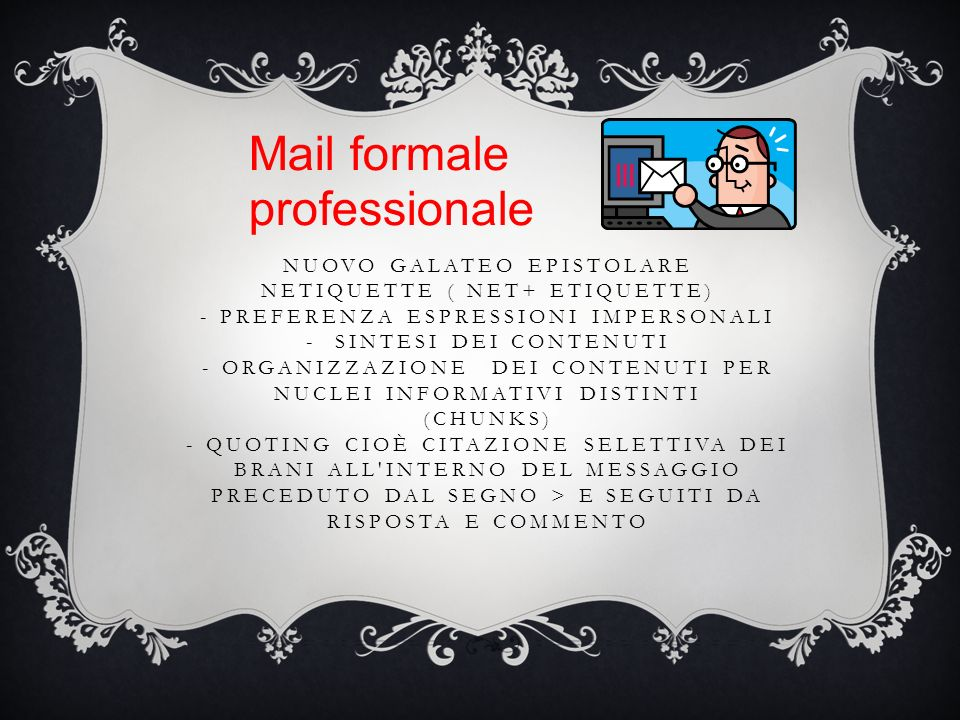 Mail formale professionale