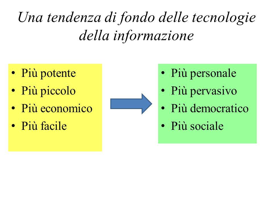 Una tendenza di fondo delle tecnologie della informazione