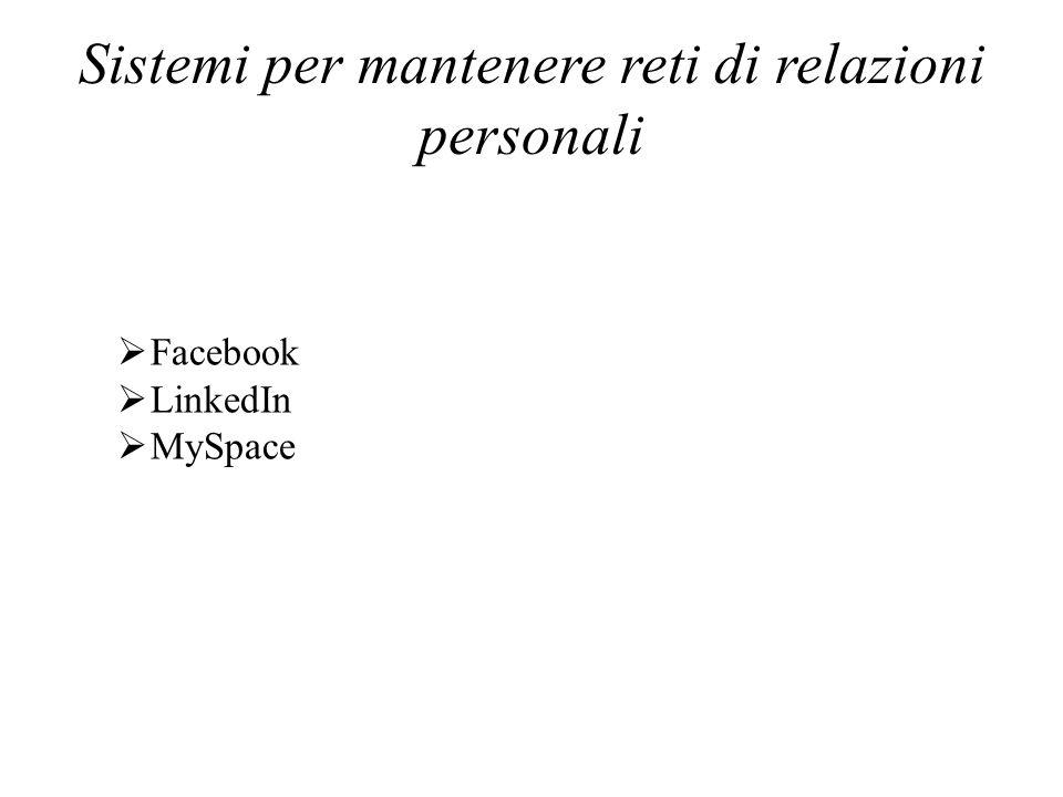 Sistemi per mantenere reti di relazioni personali