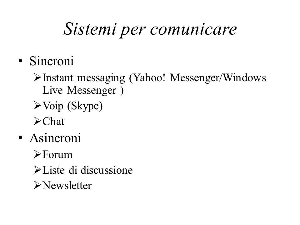 Sistemi per comunicare