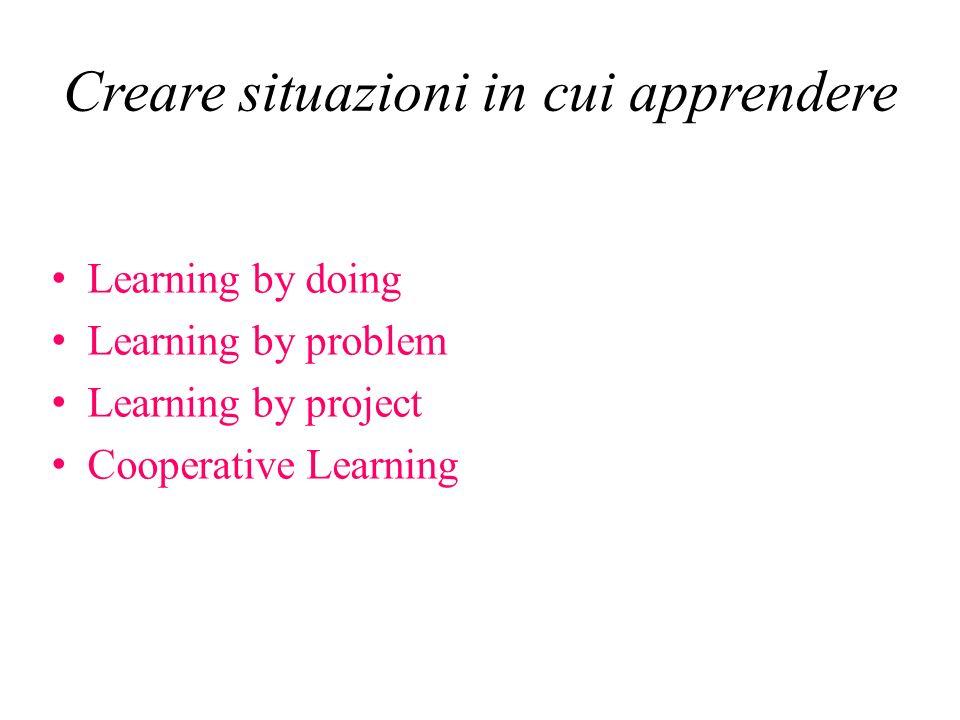 Creare situazioni in cui apprendere