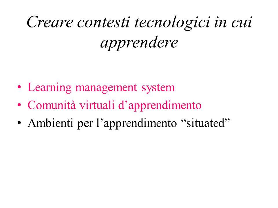 Creare contesti tecnologici in cui apprendere