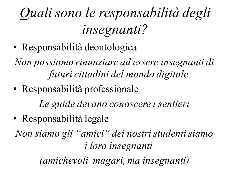 Quali sono le responsabilità degli insegnanti