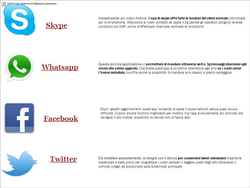 Skype Whatsapp Facebook Twitter