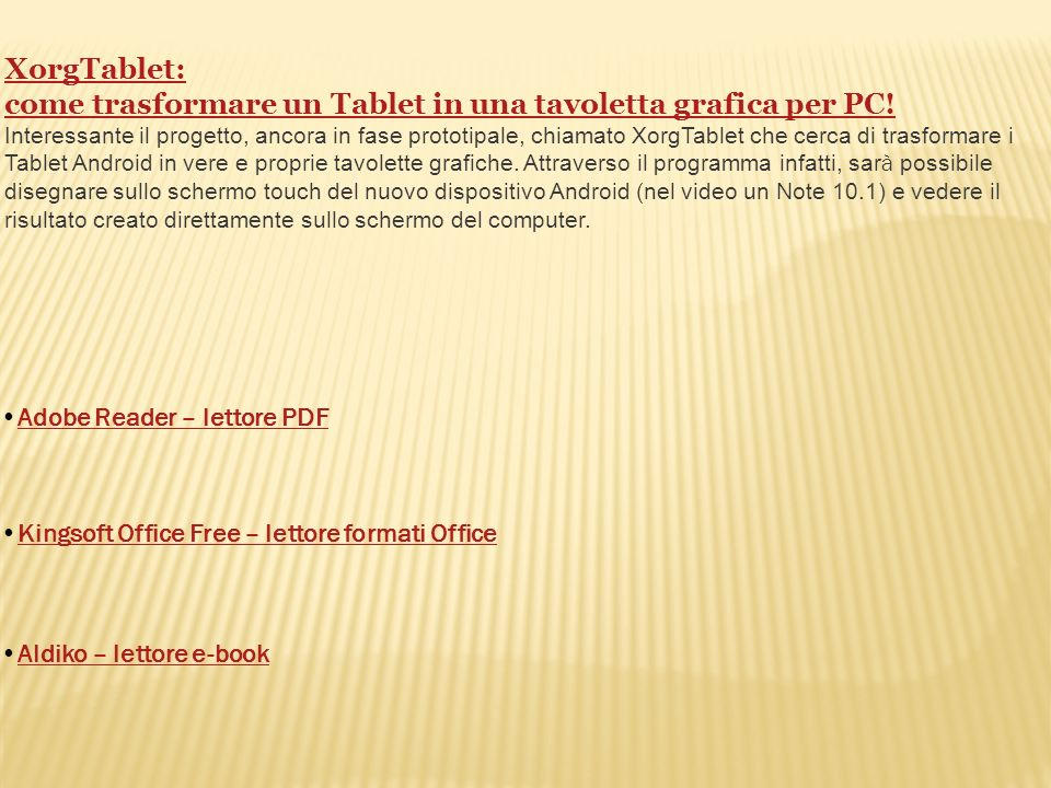 come trasformare un Tablet in una tavoletta grafica per PC!