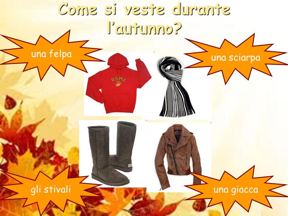 Come si veste durante l'autunno