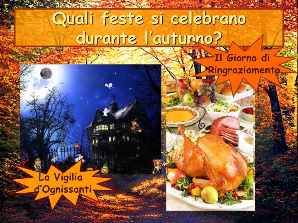 Quali feste si celebrano durante l'autunno