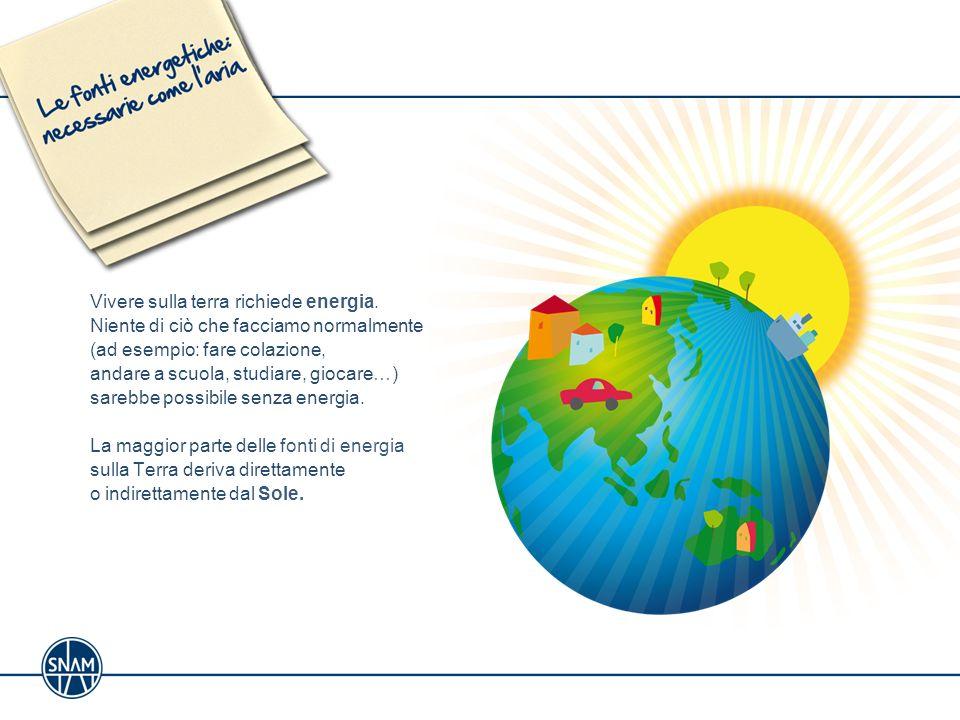 Vivere sulla terra richiede energia
