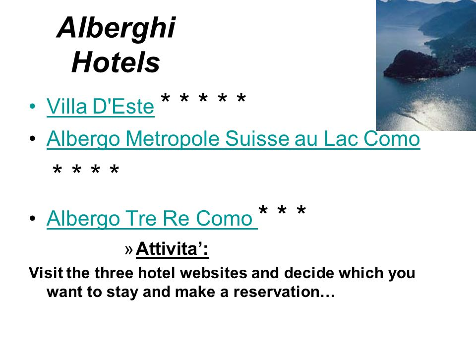 Alberghi Hotels Villa D Este * * * * *