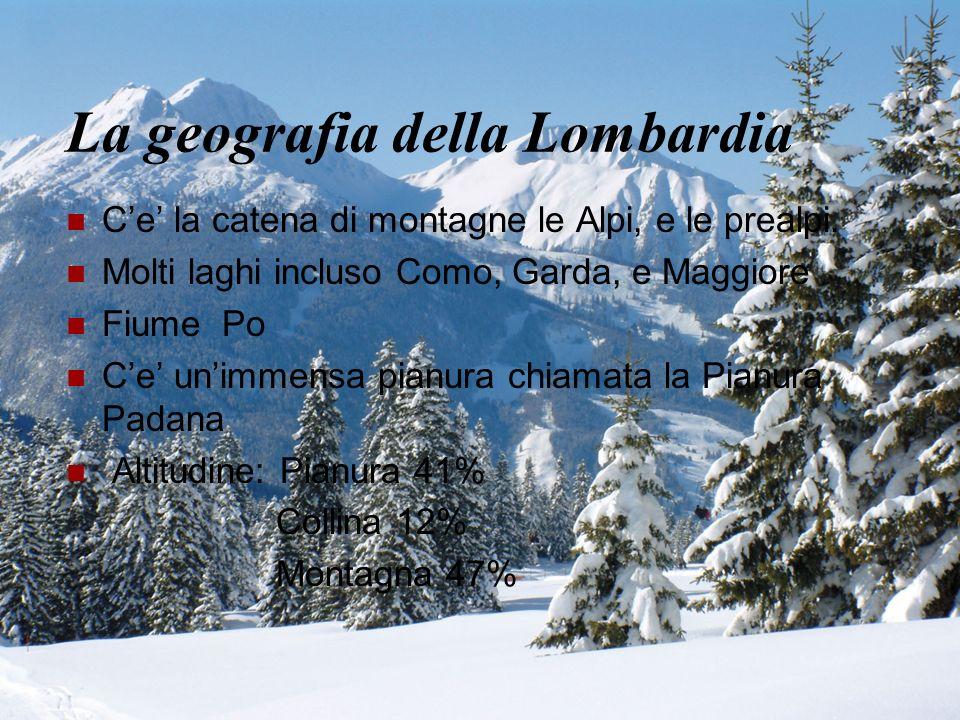 La geografia della Lombardia