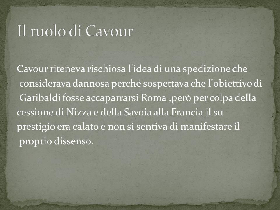 Il ruolo di Cavour