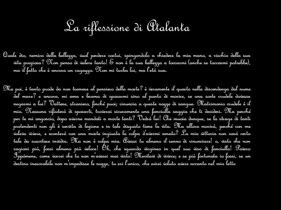 La riflessione di Atalanta