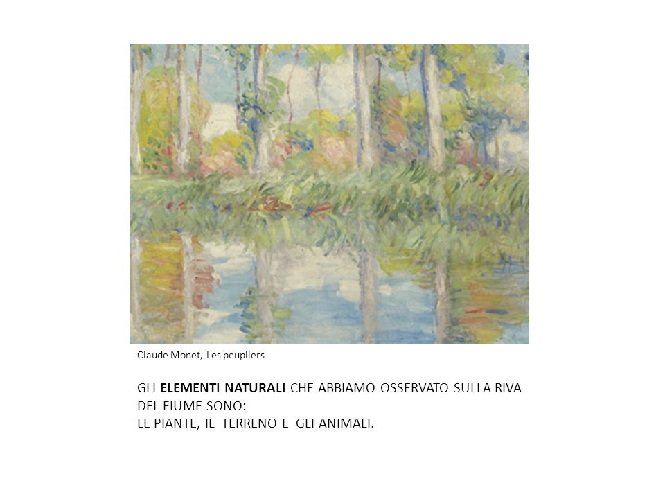Claude Monet, Les peupliers