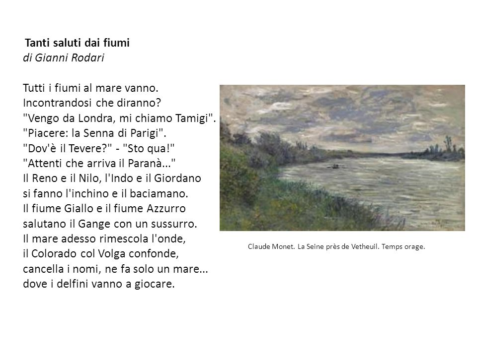 Claude Monet. La Seine près de Vetheuil. Temps orage.