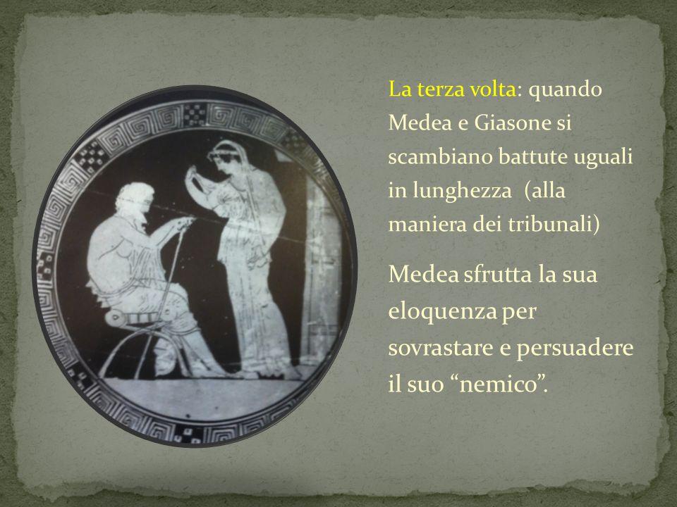 La terza volta: quando Medea e Giasone si scambiano battute uguali in lunghezza (alla maniera dei tribunali)